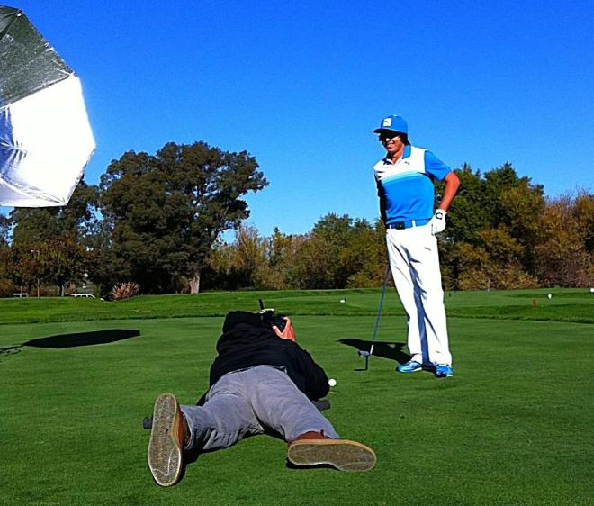 Shooting Ricky Fowler from below