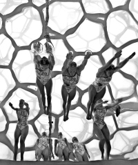 BEIJING- AUGUST 23: Team Canada competes en route to a fourth place finish in the Women's Synchronized Team Final during day 15 of the Beijing 2008 Olympic Games on August 23, 2008 in Beijing, China. (Photo by Donald Miralle)